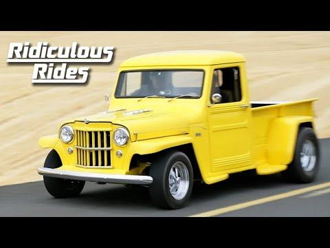 Willys Pickup Gets $150k V8 Makeover   RIDICULOUS RIDES #Video