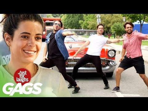 Greasers Get The Whole Street Dancing. Just For Laughs Gags