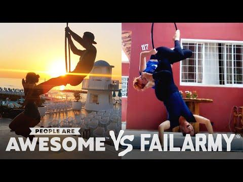 Wins VS. Fails on Parachutes, Slacklines, Hoop Swings & More #Video