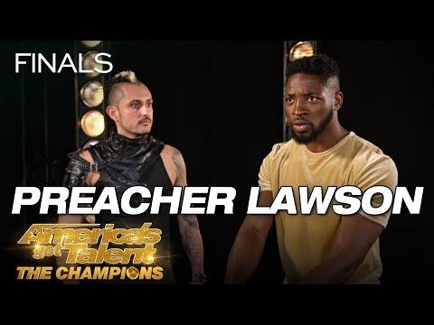 LOL! Preacher Lawson Attempts To Throw Knives At Deadly Games - AGT: The Champions