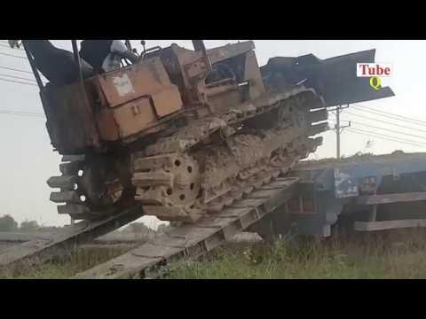 Extreme Bulldozer loading truck and Excavator Catch​ Eel