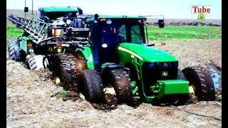 Extreme Tractor Gone Wrong - Heavy Tractor Pulling Truck Out Mud