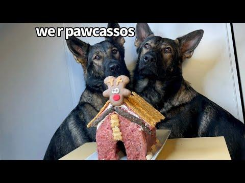 Decorating A Dog House With My German Shepherds Video