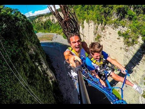 World's Fastest Zipline! Gravity Canyon In 4K!