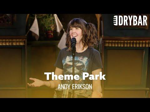 Growing Up In A Theme Park Video. Comedian Andy Erikson