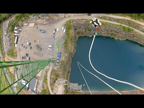 73-year-old Risks Life And Limb In Record Breaking Bungee Jump