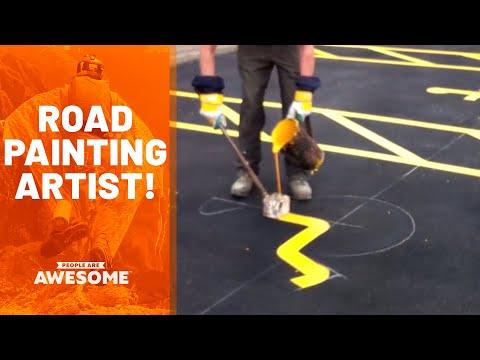 Satisfying Road Painting Video