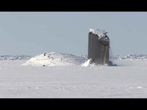 Giant Submarine Breaks Through Ice - Your Daily Dose Of Internet