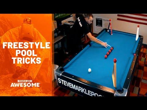 Satisfying Freestyle Pool Trick Shots Video | People Are Awesome