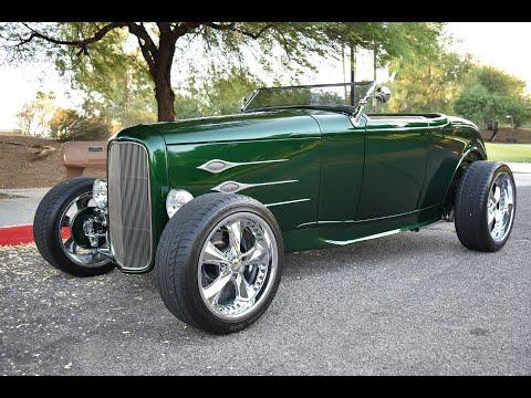 1932 Ford Roadster Hot-Rod Video  - Ford Powered Ford - Super-Charged