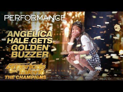 Angelica Hale Receives Golden Buzzer From Howie Mandel! - AGT: The Champions