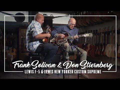 Lewis F-5 and D'Angelico/Lewis New Yorker Custom Supreme played by Frank Solivan & Don Stiernberg