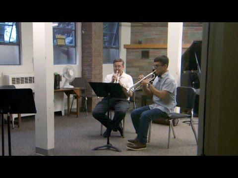 Music bridges the miles U.S. trumpet player and Afghan teen