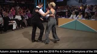 2018 Professional Divisions & Overall Champions Jones & Goree