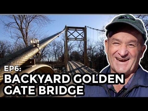 Backyard Suspension Bridge - COOLEST THING I'VE EVER MADE