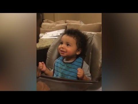 Baby Pranks Daddy With A Burp Kiss
