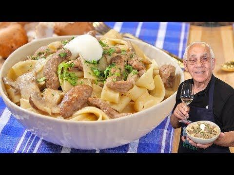 Beef Stroganoff with Pappardelle. OrsaraRecipes