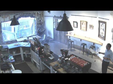 Bus Crashes Into A Coffee Shop. Your Daily Dose Of Internet.
