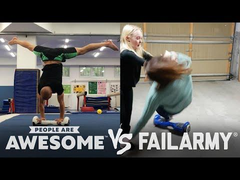 Drifting, Parkour, Hoverboarding Video & More Wins VS. Fails! | People Are Awesome VS. FailArmy