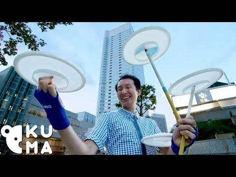 Flying Saucers // Japan's #1 Plate Spinner