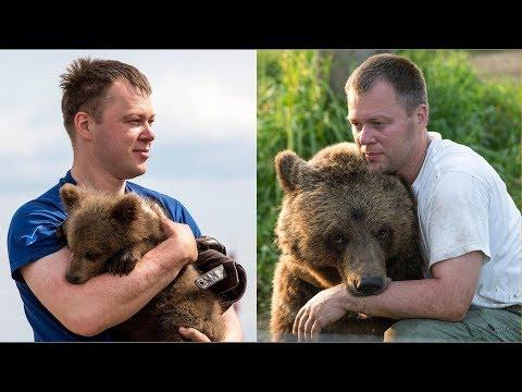 Andrei and Mansur. The Story Of The Sincere Friendship Of Man And Bear #Video