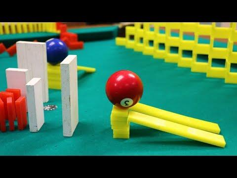 Amazing Domino Pool Trick Shots!