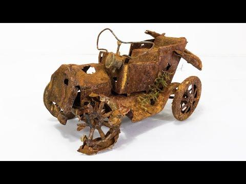 Restoration rusty abandoned vintage car 1950s #Video