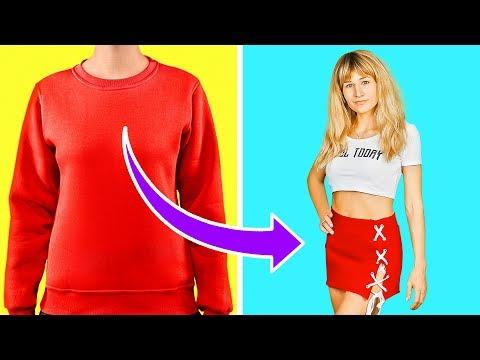 99 CLOTHES HACKS AND TRICKS    UPGRADE YOUR WARDROBE