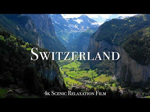 Switzerland 4K - Scenic Relaxation Film With Calming Music #Video