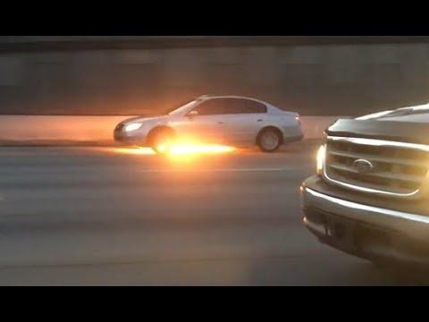Driving While On Fire. Your Daily Dose Of Internet