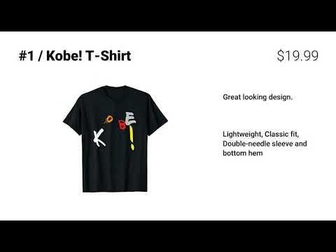 Top 5 Kobe Bryant Shirts For 2021 Video