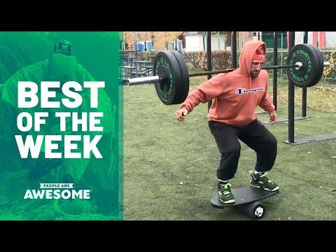 Barbell Balancing on a Rola Bola & More | Best of the Week