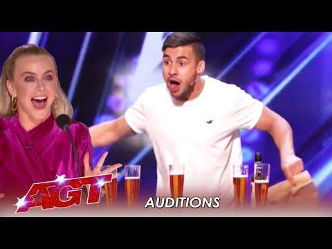 Dom Chambers: The Australian Beer Chugging Magician - AGT Video