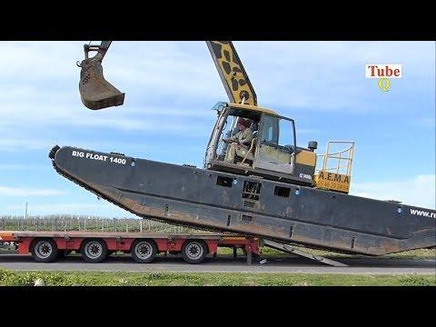 Heavy Excavators Loading - Unloading Construction Machine In The World