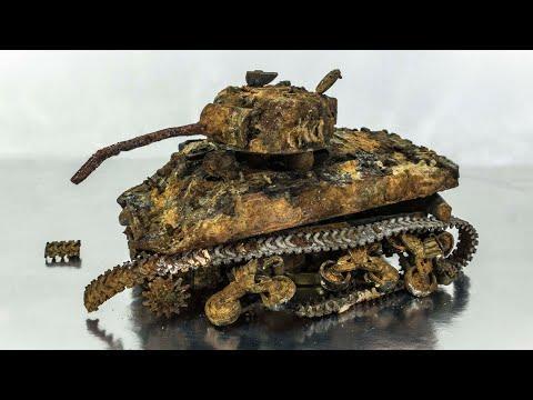 M4 Sherman Restoration Abandoned US Tank Video