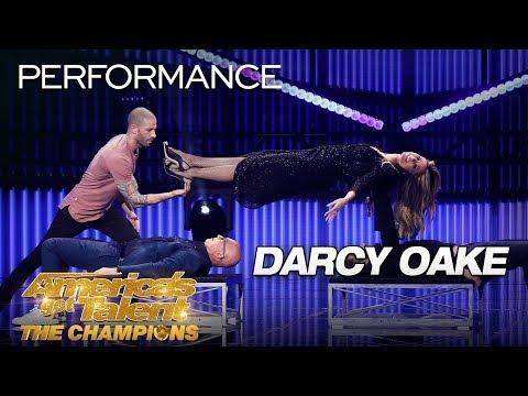 Darcy Oake: Illusionist Defies Gravity Making Heidi Klum Float - AGT: The Champions