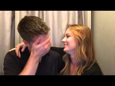 Surprised Husband Gets Pregnancy Announcement In Photo Booth!