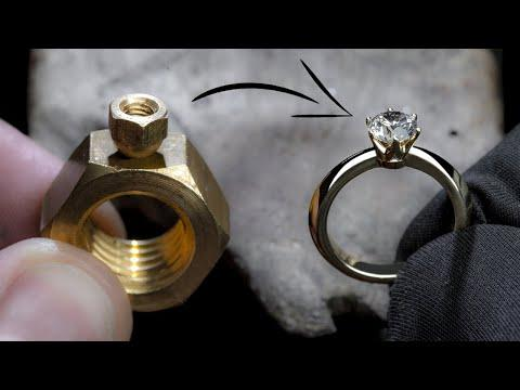 I TURN 2 HEX NUTS into a 1 Ct DIAMOND RING - Pablo Cimadevila