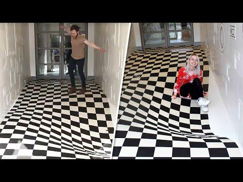 The Floor in This Office Is Enough to Make You Seasick on Dry Land Video