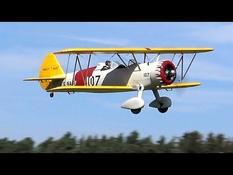 RC Scale Airplanes - Giant Rc SUPER STEARMAN 1/3 Scale