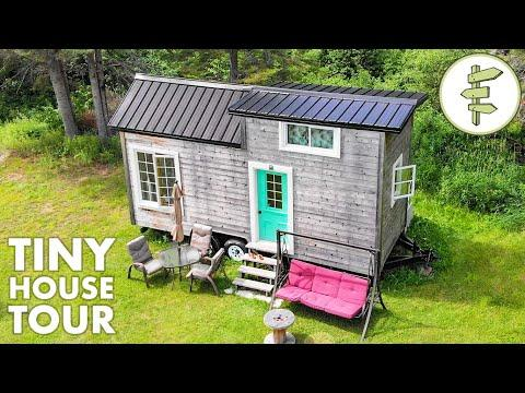 Open-Concept Minimalist Tiny House Built with Reclaimed Materials