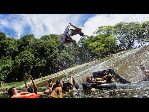World's Most Epic Natural Waterslide! In 4K!