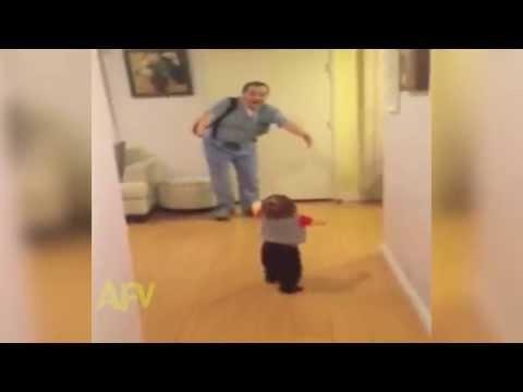 Baby Pranks Father With Fake Hug