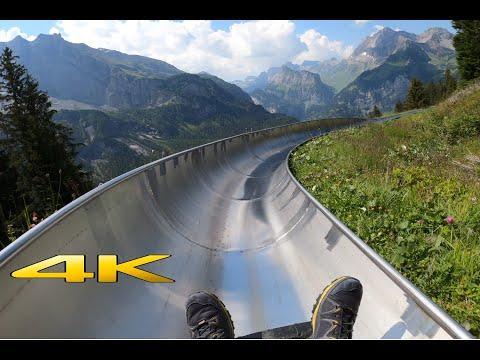 Mountain Coaster Oeschinensee Kandersteg Switzerland Video