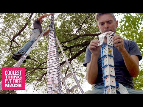 World's Best Card Stacker Builds Insane Outdoor Card Tower. #Video