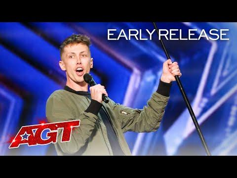 The Judges Can't Stop Laughing at Cam Bertrand's Comedy - AGT 2021 #Video