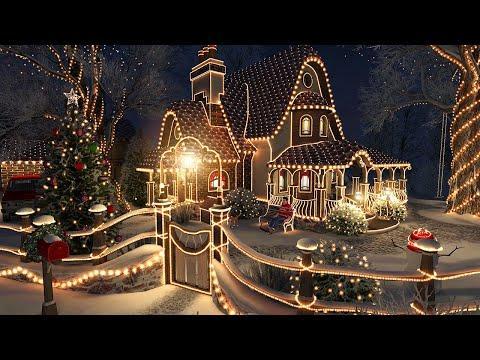 Christmas Cottage - 1 Hour Christmas Snowfall Screensaver 4K