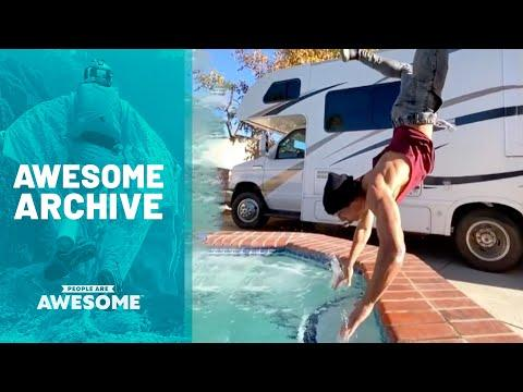 Extreme Pool Tricks Video & More | Awesome Archive