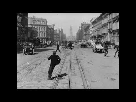 A Trip Down Market Street, San Francisco, 1906 -  With Sound