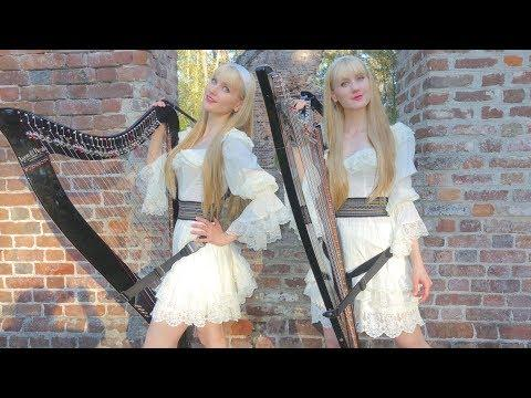 ALL THROUGH THE NIGHT - Harp Twins, Camille and Kennerly